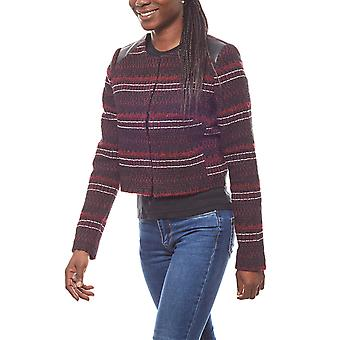 vivance striped ladies short jacket bolero jacket Bordeaux collection