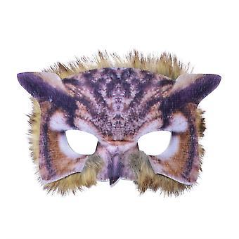 Owl ansikte Mask realistiska fjäderdräkt