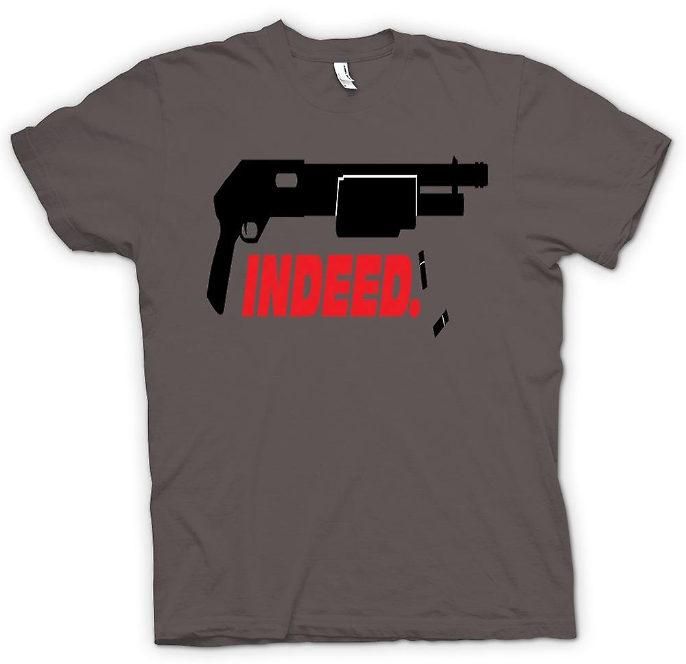 Womens T-shirt - inderdaad Shotgun - anarchie - Funny