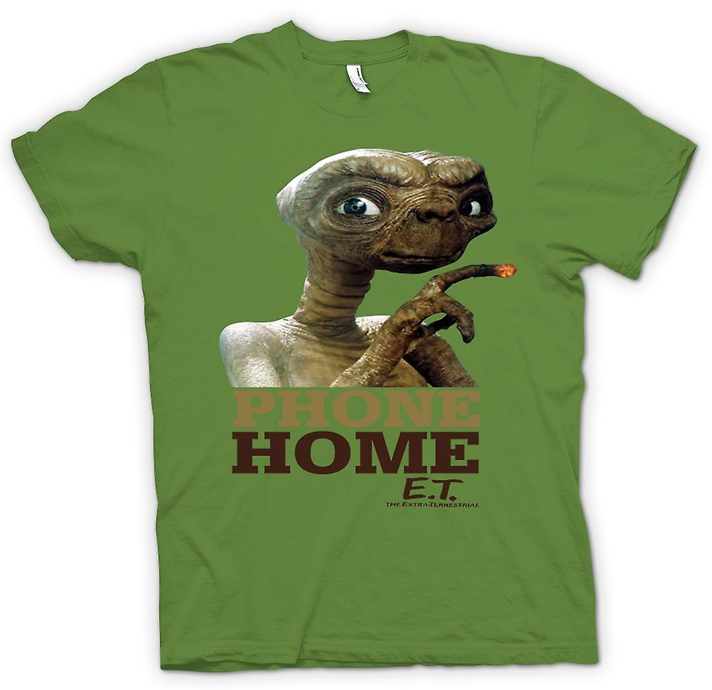 Mens T-shirt - ET Phone Home - Cute - Alien