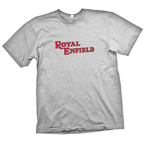 Mens T-shirt - Royal Enfield Logo - Classic Motorbike