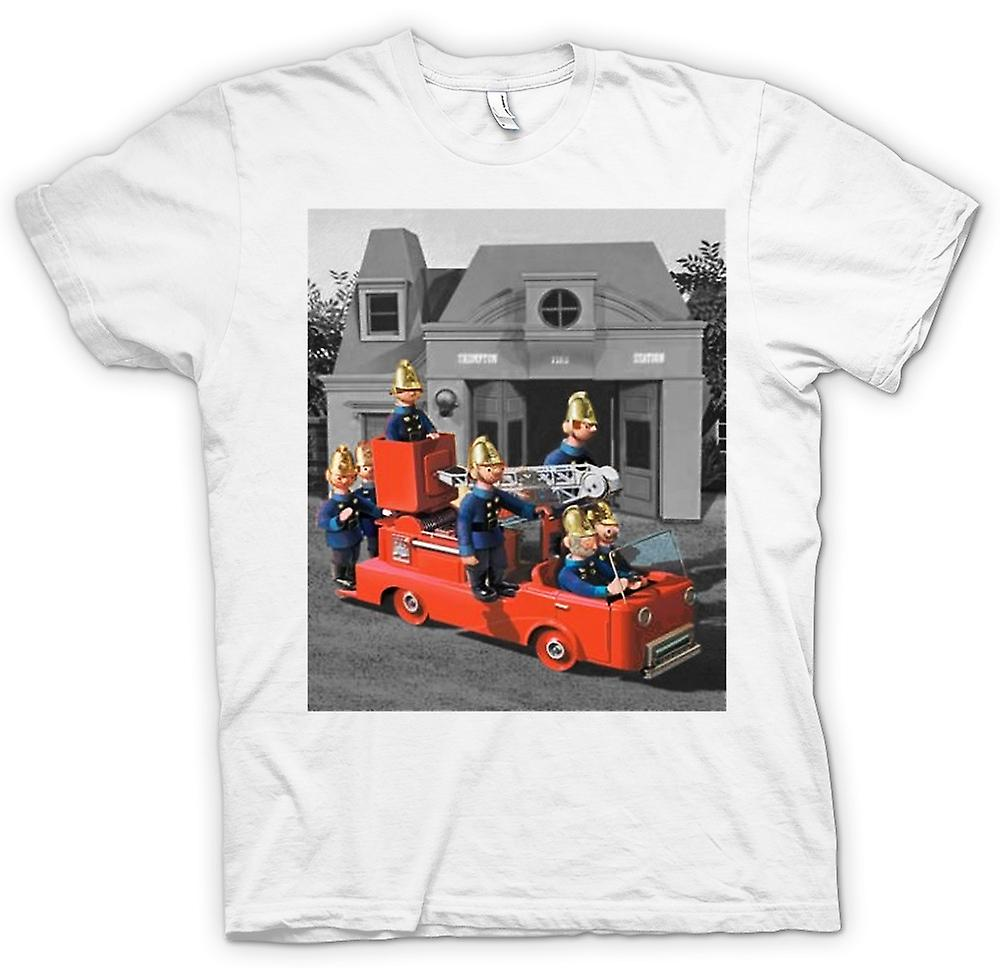 Mens T-shirt - Trumpton pompiers - Cartoon rétro inspiré