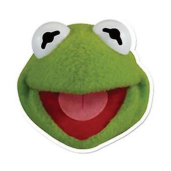 Kermit Frog kort ansigtsmaske (Muppets)