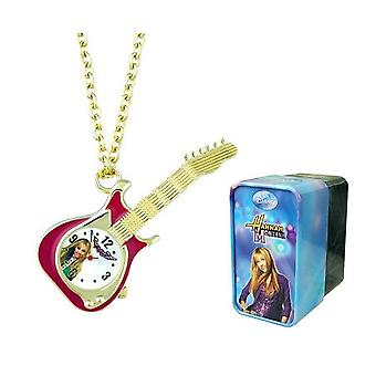 Hannah Montana Girls Analogue Gold Plated Guitar Pendant Watch On 27 Inch Chain