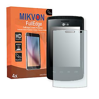 LG E410 Optimus L1 II screen protector - Mikvon FullEdge (screen protector with full protection and custom fit for the curved display)