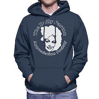 Der Dolly Parton Wertschätzung Gesellschaft Herren Sweatshirt mit Kapuze