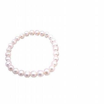 Wedding Flower Girl Jewelry Freshwater Pearls Stetchable Bracelet