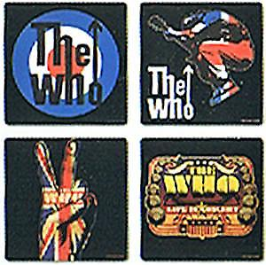 The Who boxed set of 4 drinks coasters