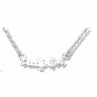 Jo For Girls Sterling Silver Daddy's Girl Pendant on Extender Chain