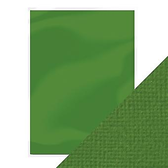 Craft Perfect by Tonic Studios A4 Weave Textured Card 10pk Fern Green