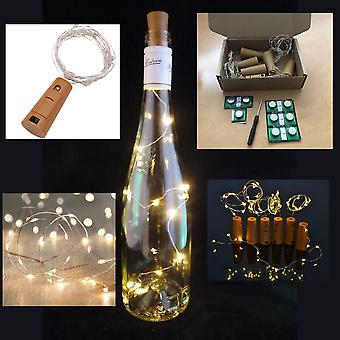 BOX of 6 LED Corks with 15 LED Lights on a String, Bottle Stopper, Lamp, Party, Wedding, Event (Bottle NOT included)