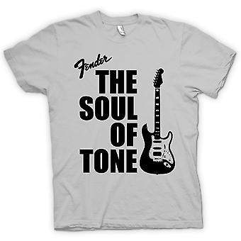 Womens T-shirt-Fender Strat ziel Toon gitaar