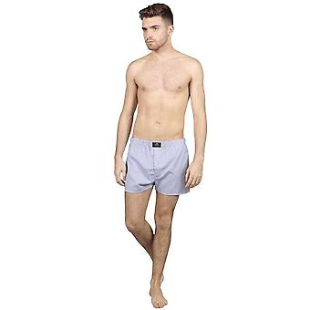 Striped cotton boxers - mauve