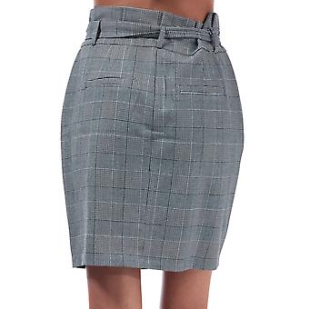 Womens Vero Moda Womens Eva Paperbag Check Rock in grau weiß