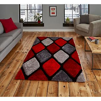 Nobel House 9247  Grey Red  Rectangle Rugs Plain/Nearly Plain Rugs