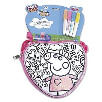 Cife Sequeen Tasche Spring Heart Pepa Pig