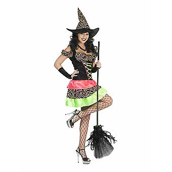Witch Costume Colorful Dots Costume Women's Halloween Witch Carnival Carnival Women's Costume