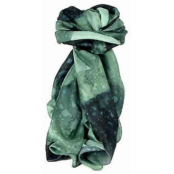 Mens Mulberry Silk Hand Painted Long Scarf Charcoal by Pashmina & Silk