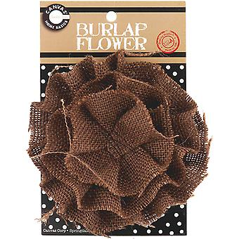 Burlap Flower Chocolate Burflwr 3396