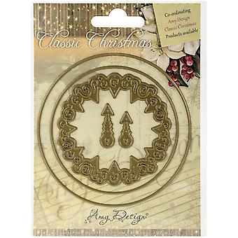 Find It Trading Amy Design Classic Christmas Die-Clock ADD10017