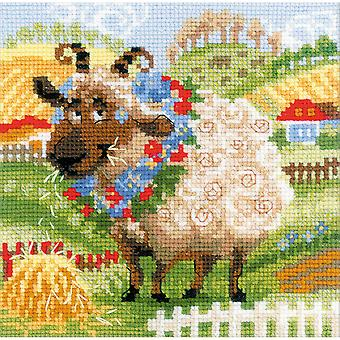 The Farm Lamb Counted Cross Stitch Kit-8