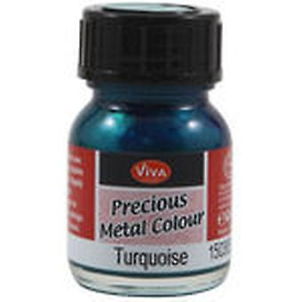 Viva Decor Precious Metal Color 25Ml Pkg Turquoise Vvpmc 3650