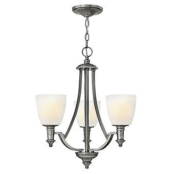 Truman Modern 3 Arm Chandelier with a Antique Nickel Finish