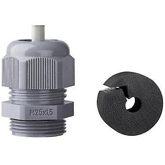 Cable gland with strain relief M25 Polyamide Light grey (RAL 7035) Jacob K345-1025-00 1 pc(s)