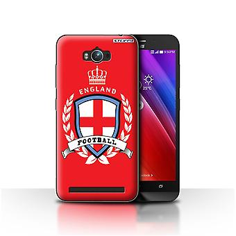 STUFF4 Case/Cover for Asus Zenfone Max ZC550KL/England/English/Football Emblem
