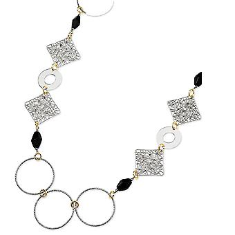 Sterling Silver 18K Yellow Gold-Plated Onyx Fancy Necklace