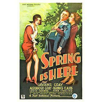 Весна здесь фильм плакат (11 x 17)