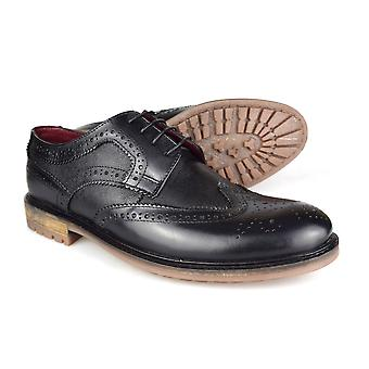 Silver Street London 12362 Oxford Mens Black Leather Brogues