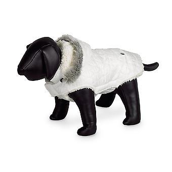 Nobby Polar Dog Coat White With Hood 44cm