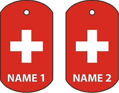 Personalised Switzerland Dog Tag Car Air Freshener