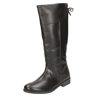 Ladies Spot On Knee High Boots LBOOT/PT01E