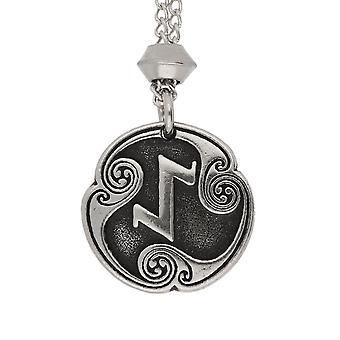 Handmade Norse Viking Eihwaz Rune of Defence against Danger Pewter Pendant ~ 20 inch Chain