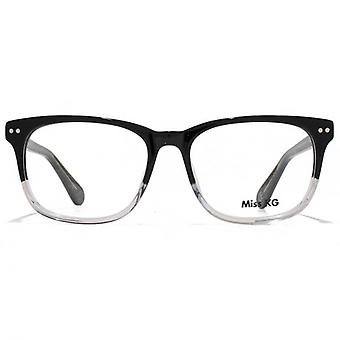 Miss KG Rectangle Glasses In Black To Crystal Gradient