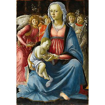 Sandro Botticelli - Virgin and Child Poster Print Giclee