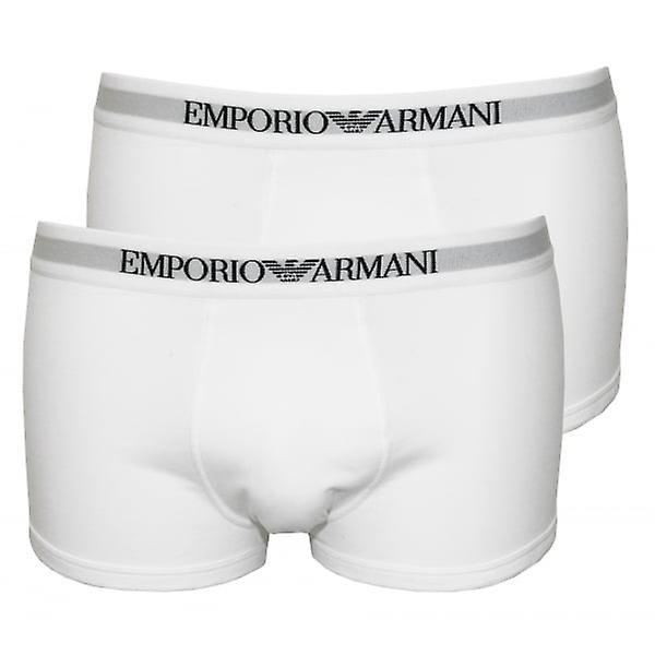 امبريو أرماني القطن الخالص 2-حزمة الملاكم جذوع، أبيض
