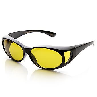 Polarized Overlap Cover Fit On Full Protection Anti-Glare Sunglasses