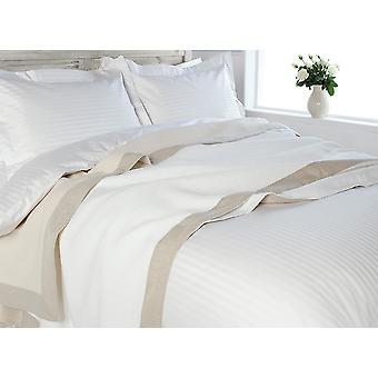 Luxury diamond weave linen border Throwover Bedspread