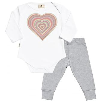 Spoilt Rotten Warm Heart Babygrow & Jersey Trousers Outfit Set