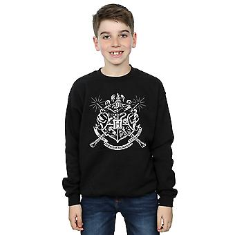 Harry Potter Boys Hogwarts Badge Wands Sweatshirt