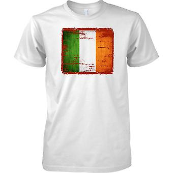 Irlandzki Grunge efekt flaga - dzieci T Shirt