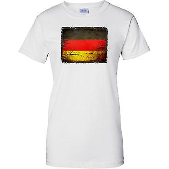 Germany Grunge Grunge Effect Flag - Ladies T Shirt