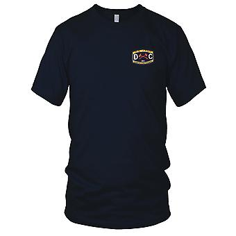 E.U. Marinha DC professora classificação danos controlador bordada Patch - Mens T-Shirt