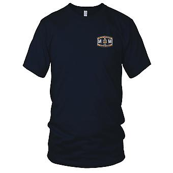 US Navy MMCS Senior Chief Machinist Mater Rating Embroidered Patch - Mens T Shirt