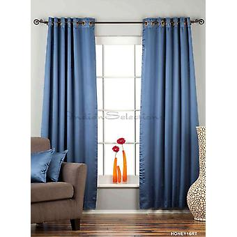 Blue Ring / Grommet Top 90% blackout Curtain / Drape / Panel  - Piece