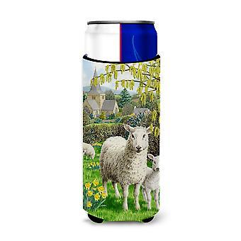 Carolines Treasures  ASA2024MUK Sheep Ultra Beverage Insulators for slim cans