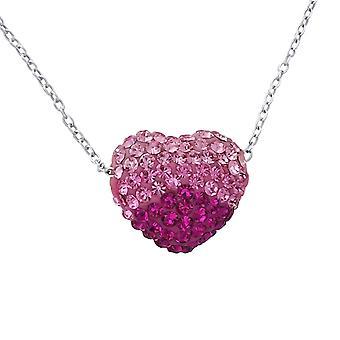 Hjerte - 925 Sterling sølv juveler halskjeder - W18843x